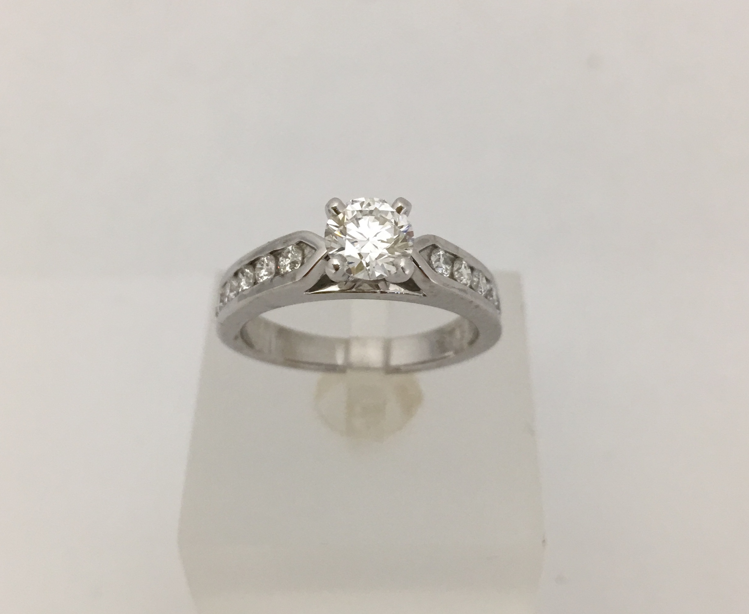 solitaire ring platinum neoclassical h internally gia diamond flawless engagement european rings carat